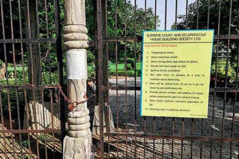 Delhi's Neeti Bagh park is now open for all, mask must | Delhi News - Times of India
