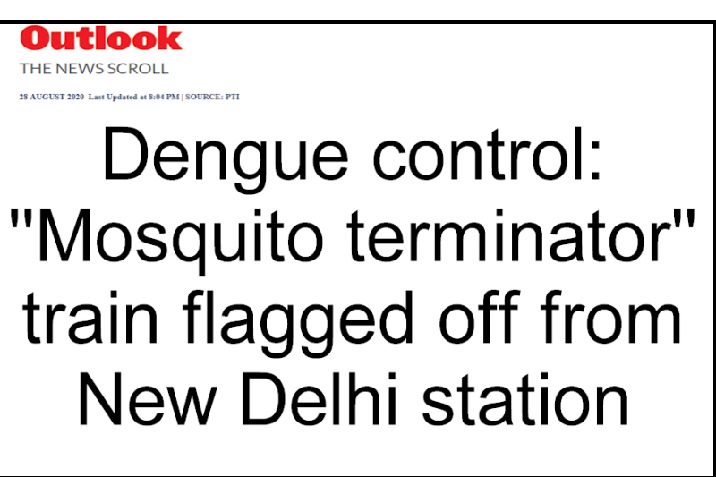 Dengue control: ''Mosquito terminator'' train flagged off from New Delhi station
