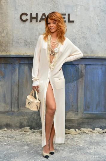 Great Outfits in Fashion History: Rihanna in a Sexy Chanel Cardigan