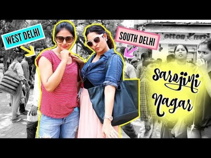 South Delhi VS West Delhi in SAROJINI NAGAR ft. Captain Nick | StyleMeUpWithSakshi