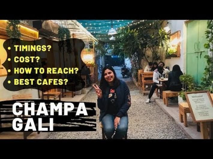 CHAMPA GALI Saket Delhi: (Timings, How to Reach ,Cost for Two?) | Champa Gali VIDEO