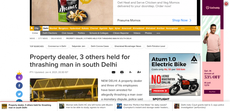 Property dealer, 3 others held for thrashing man in south Delhi