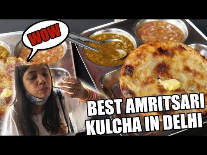Delhi Street Food | Best Amritsari Kulcha In Delhi | Delhi ka best Amritsari Kulcha