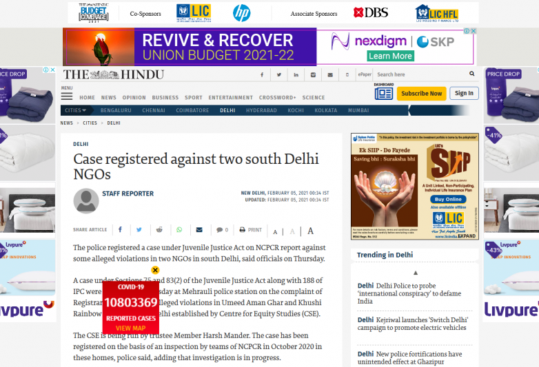 Case registered against two south Delhi NGOs