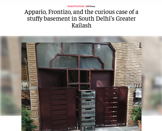 Appario, Frontizo, and the curious case of a stuffy basement in South Delhi's Greater Kailash